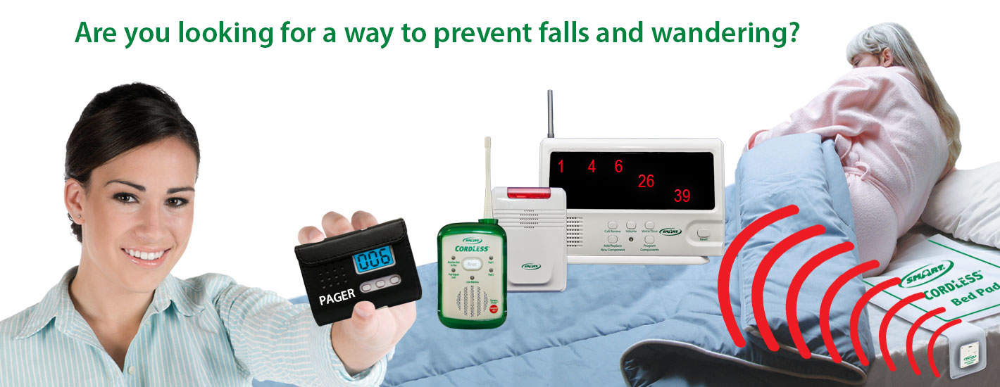 Wireless & Quiet Fall Prevention and Exit Alarms for Caregivers