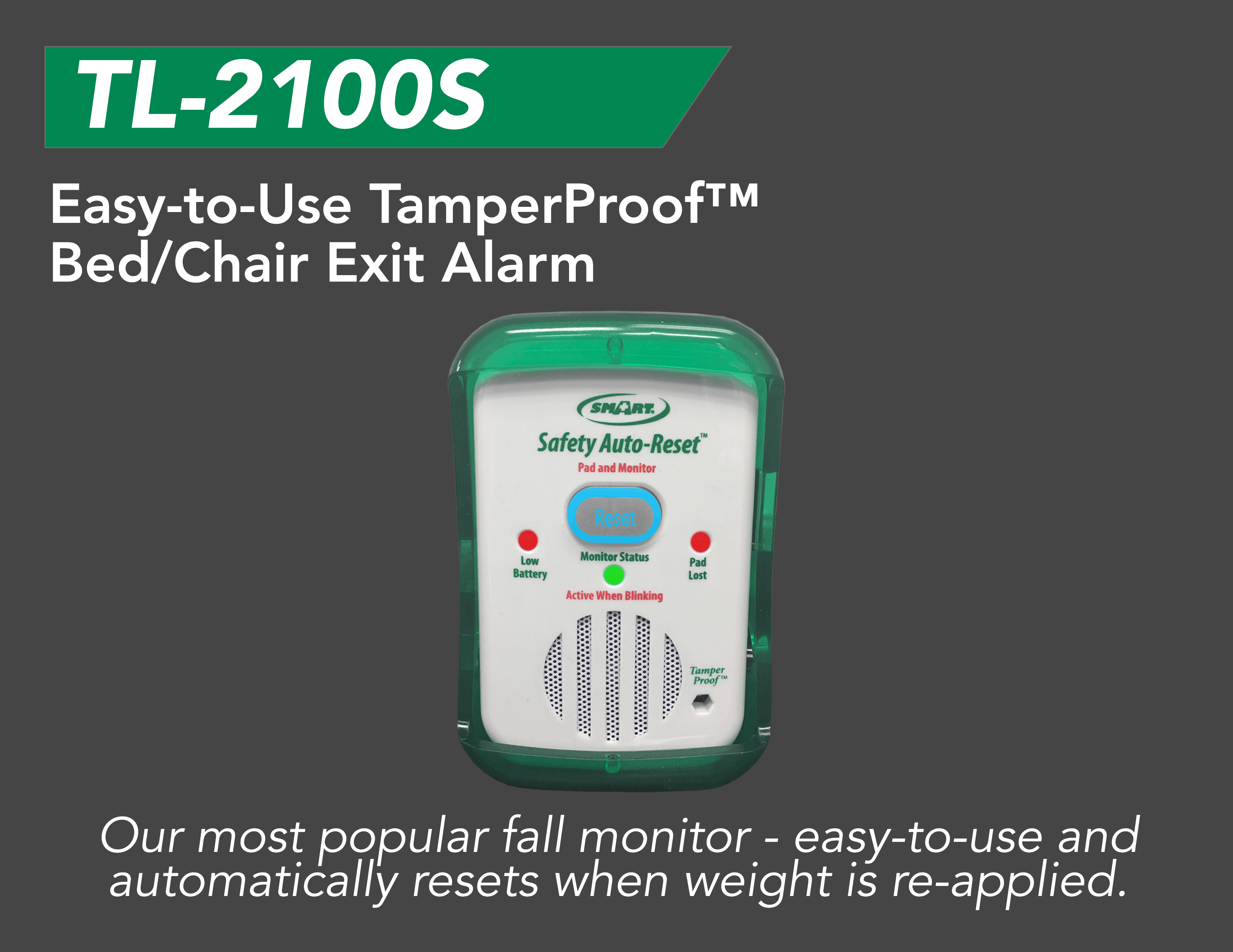 Safety Auto Reset Fall Monitor Tl 2100s Smart Caregiver